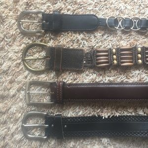 Set of 4 leather Belts (Fits sizes 26 to 30)